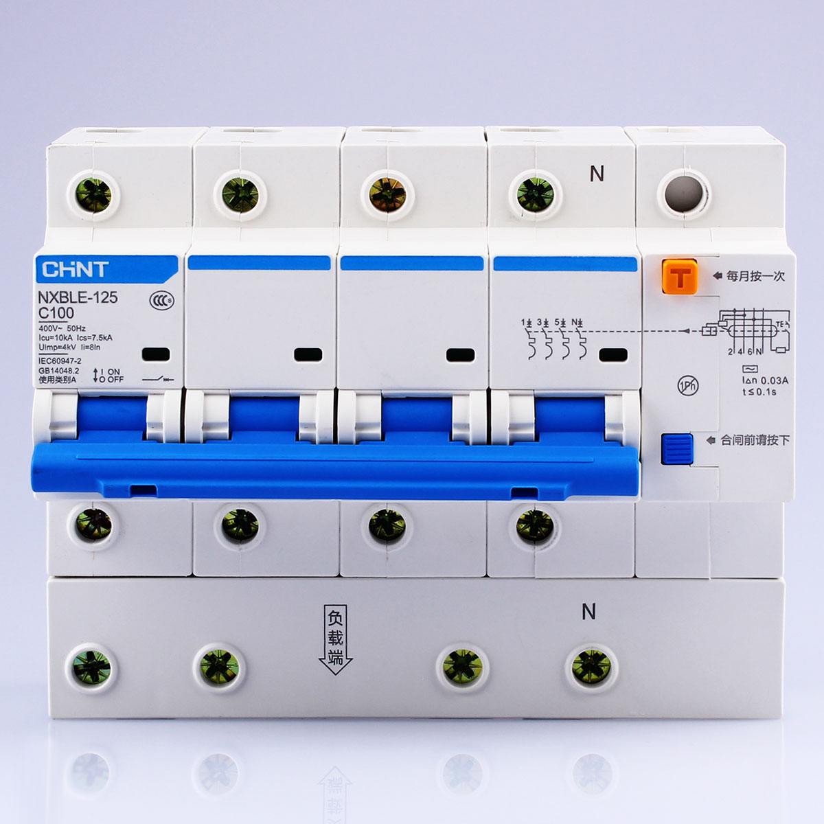 Sale Chnt Chint Nxble 125 63a 80a 100a 125a 4p Small Earth Leakage Circuit Breakers For Dc Breaker Electronic With