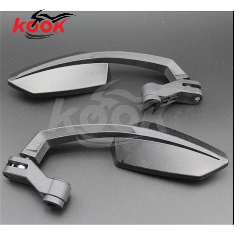 Motorcycle Rearview Side Mirrors 8mm/&10mm Mount For Harley Honda Yamaha Suzuki