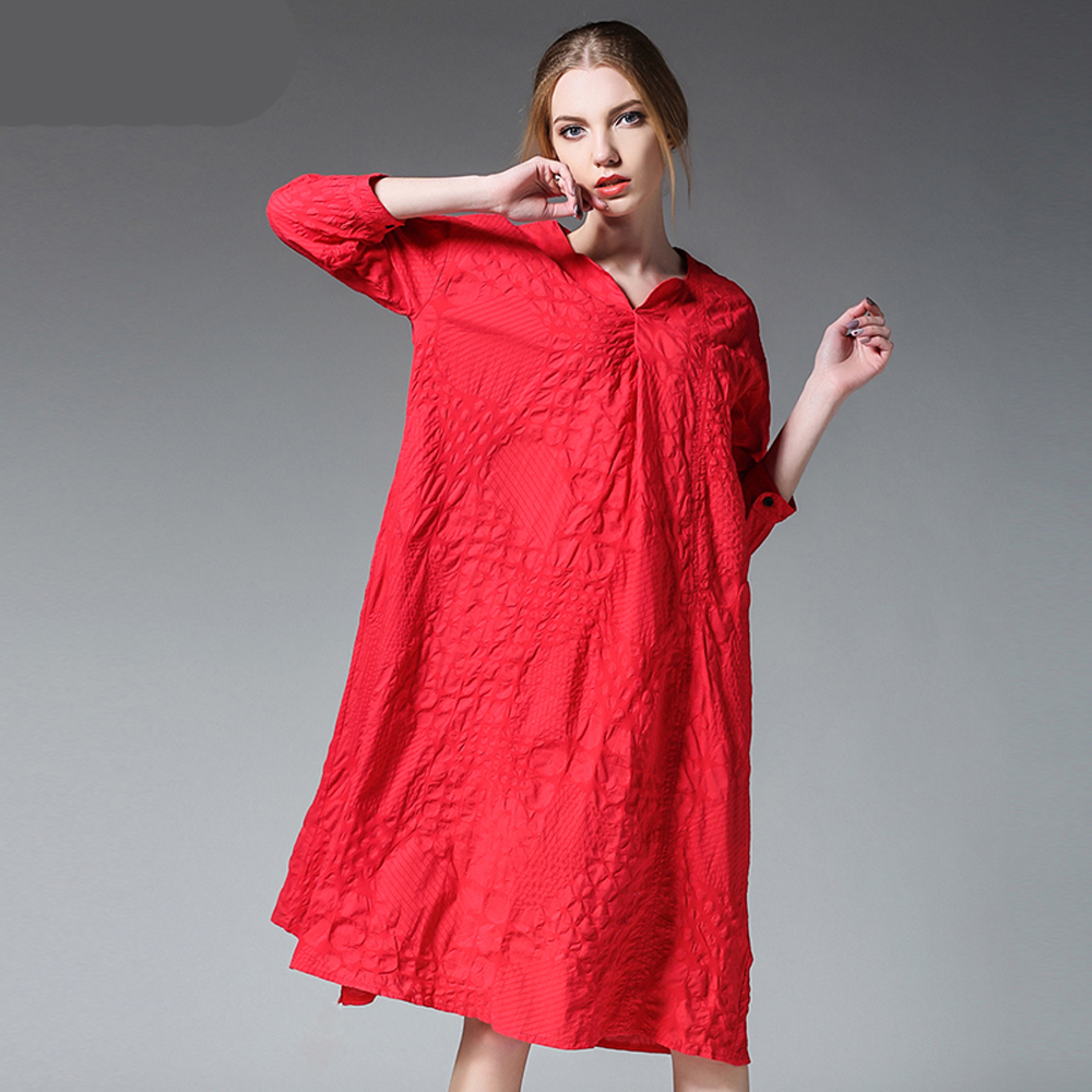 Robe Femme 2017 Casual Women Summer Elegant Fashion Beach Fat Large Big  Plus Size Red Black Cotton Dress Vestido Tunic Clothing-in Dresses from  Women s ... bb49b2f1ebf2