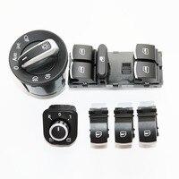 DAZOO 6PCS/Set Electric Single Window Control Switch For VW Jetta 6 Golf GTI 5 6 Touran Tiguan Caddy Passat B6 CC 5ND 941431B