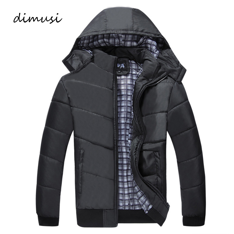 DIMUSI Winter Men Jacket Male Padded Coats Mens Causal   Parkas   Fahsion Coat Male Outwear Windbreaker Hoodies Clothing 4XL,TA281