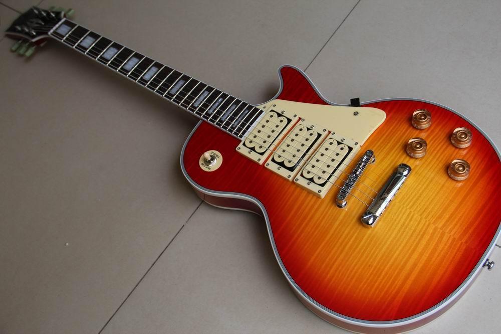 Wholesale G Custom Shop Ace Frehley Budokan Aged Custom Electric Guitar mahogany body one piece neck 120510