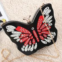 Freies verschiffen Neue Acryl Schmetterling stil mode bankett Kosmetik DayClutches