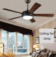 Modern Led Ceiling Fan 220Volt 5 Blades Ceiling Fans Lamps With Lights For Living Room home lighting