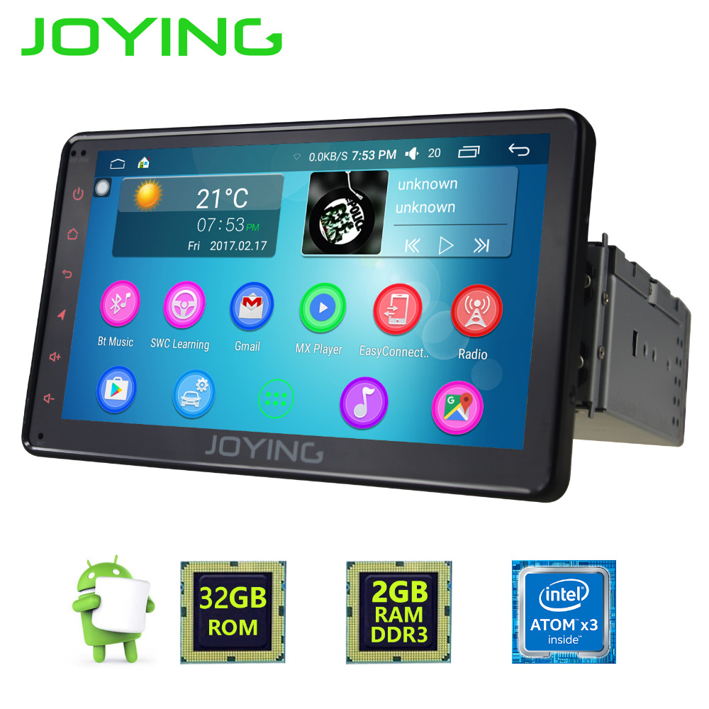 JOYING 2GB 7inch 1DIN GPS CAR RADIO ANDROID 6.0 HD HU Tape recorder BLUETOOTH 4.0 STEERING-WHEEL CONTROL GPS NAVI Player Monitor free shipping 7 android 6 0 car radio for chevrolet cruze daewoo lacetti car dvd player with steering wheel gps bluetooth