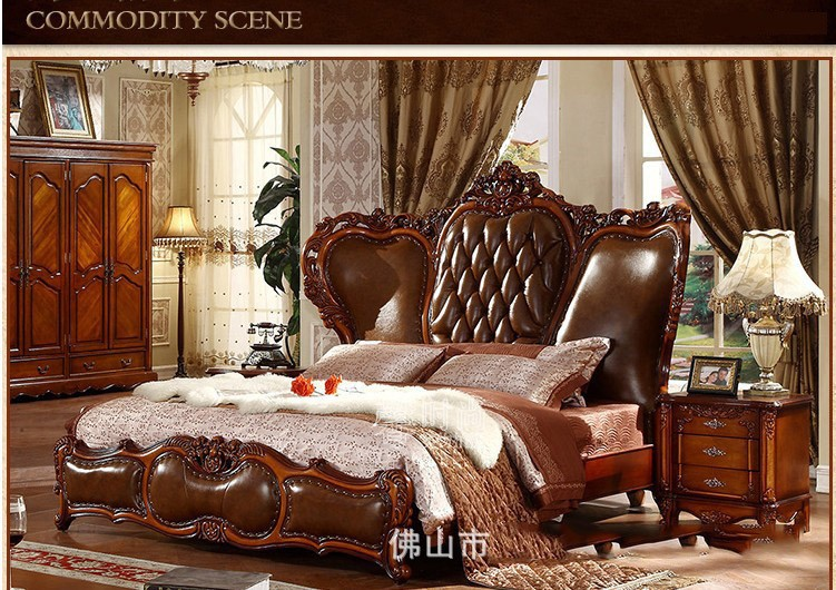 Modern American Solid Wood Country Style Fashion Bedroom Set