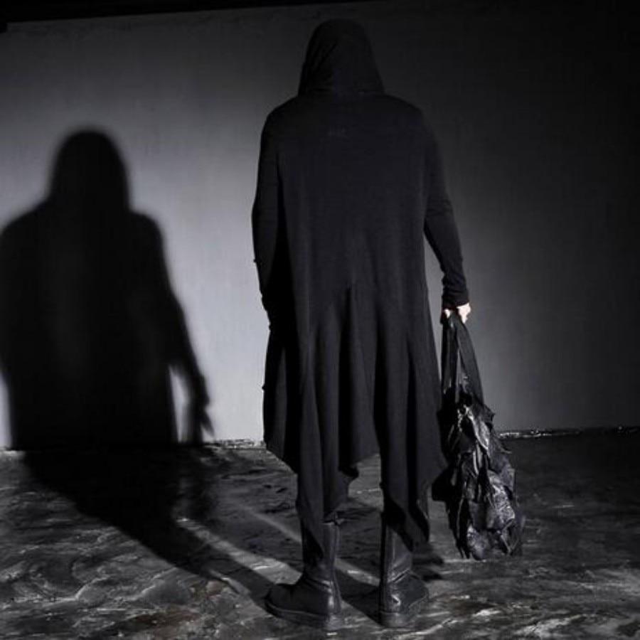 Spring New Avant Garde Boys Men's Punk Gothic Long Cloak Causal Loose Nightclub Cosplay Trench Coats Free Sizes