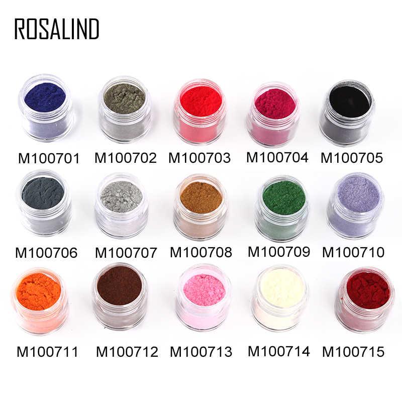 Rosalind Kuku Glitter Gel Pernis Beludru Bubuk Kuku Seni Dekorasi Rendam Off Hybrid Primer UV Cepat Kering untuk Kuku manikur