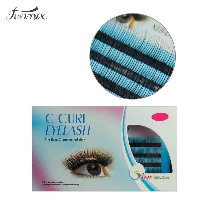 4 Packs Mode C Curl Individuella Korea-ögonfransar Handgjorda - Smink