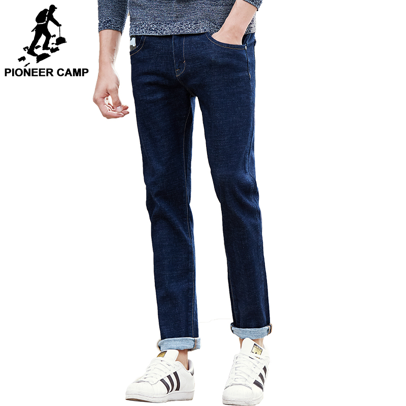Pioneer Camp new straight jeans men brand clothing male denim pants men fashion causal top quality male denim trousers 677188 men jeans 2017 new fashion full length solid skinny jeans men brand designer clothing denim pants luxury casual trousers male