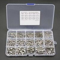 480pcs New Hex Socket Screws M2 M3 M4 Stainless Steel Head Cap Screw Nut Set With