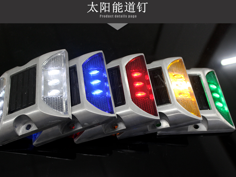 20 Pieces Solar Powered LED Road Stud Blue Road Flashing Light One Pack