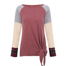 hot deal buy t-shirts women short sleeve patchwork o-neck female tops summer fashion casual t shirt ladies tops tees