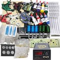 Professional Tattoo Kits tattoo machine kit tattoo ink needle power grip Supply WS-TK006 free shipping