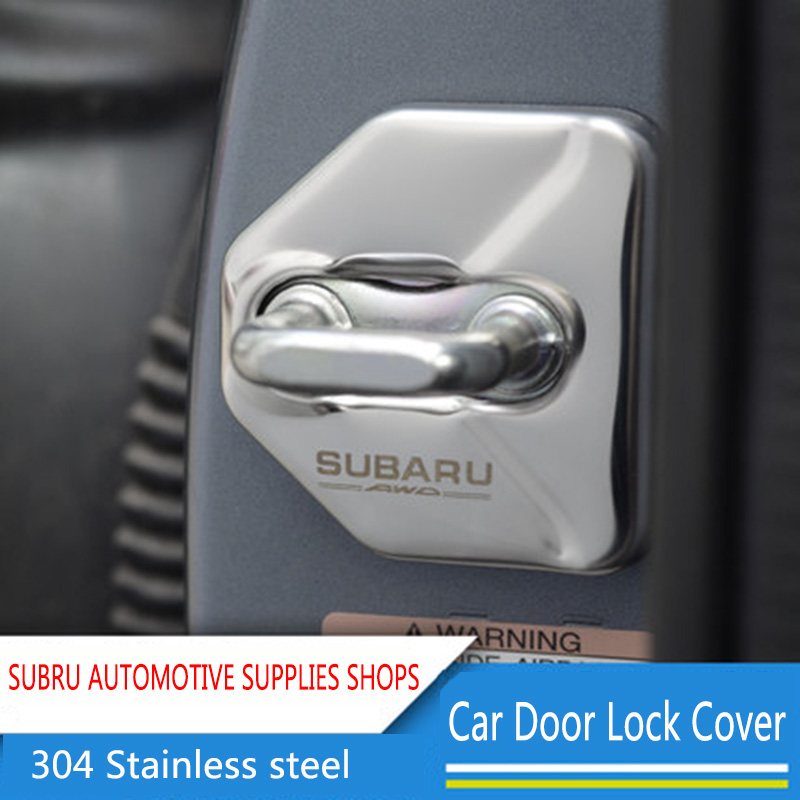 Car Styling Stainless Steel Car Covers Door Lock Cover Stickers