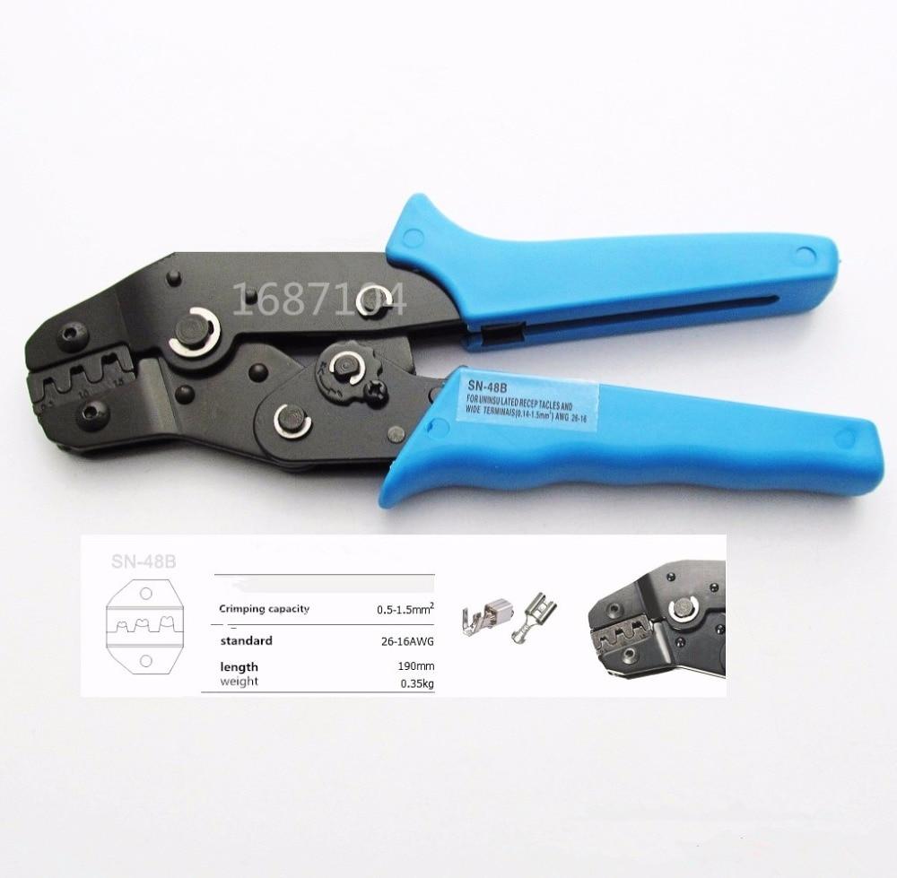 SN-48B MINI EUROP STYLE crimping tool crimping plier 0.5-1.5mm2 multi tool tools hands BLUE