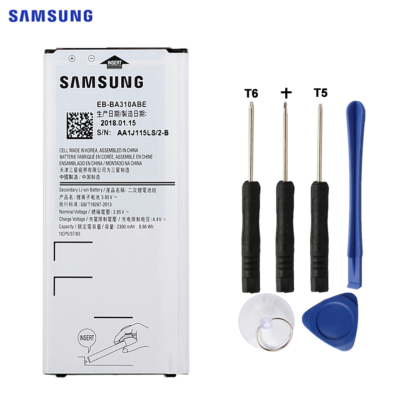 SAMSUNG EB-BA310ABE Bateria de Substituição Original Para Samsung GALAXY A3 2016 Edição A310 A5310A A310F SM-A310F 2300 mah NFC