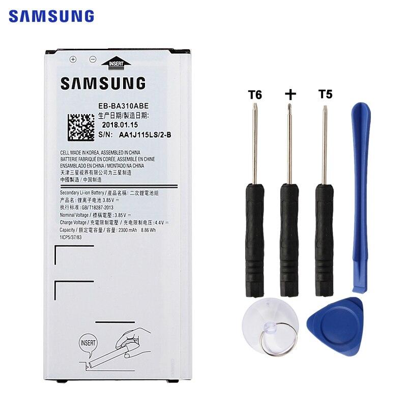 SAMSUNG Original Ersatz Batterie EB-BA310ABE Für Samsung GALAXY A3 2016 Edition A310 A5310A A310F SM-A310F 2300 mah NFC