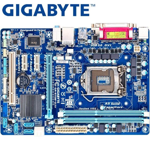 GIGABYTE GA-B75M-D3V рабочего Материнская плата B75 разъем LGA 1155 i3 i5 i7 DDR3 32G mикро ATX оригинальный B75M-D3V используется
