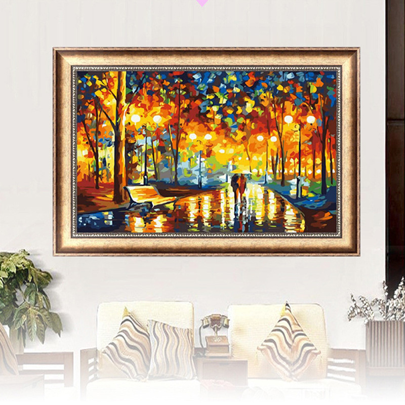 Diy 5d Diamond Cross Stitch Kits Colorful Tree Embroidery Set Home Decor Craft Christmas Gift