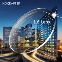 Hdcrafter 2 pcs p1.61 및 1.67 처방 렌즈 비구면 근시 원시 원시 렌즈 sph 1000 ~ + 600 광학 안경 렌즈