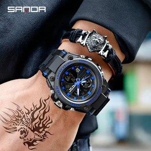 Image 4 - SANDA 739 relojes deportivos para hombre reloj de cuarzo militar de lujo de marca resistente al agua reloj de choque para hombre 2019 masculino