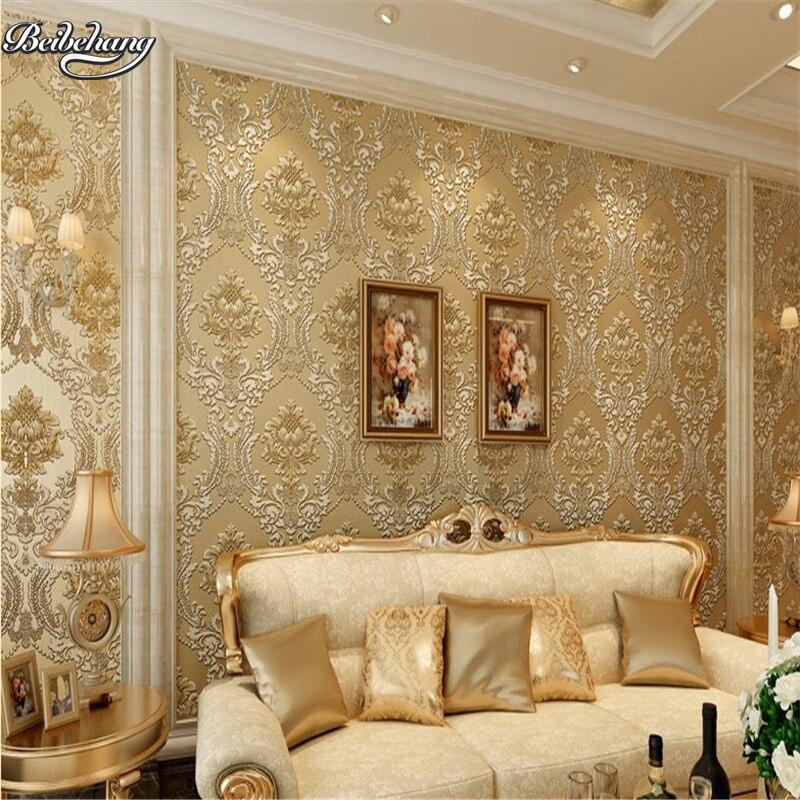 Beibehang européen non-tissé papier peint 3D luxe chaud chambre salon fond papier peint papel pintado