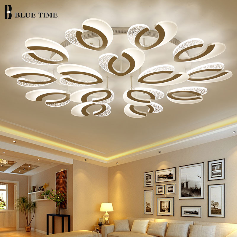 Acrylic Led Chandelier For Living room Bedroom Study room Kitchen Lustres Lamp Modern LED Chandelier Lighting Lamparas de techo noosion modern led ceiling lamp for bedroom room black and white color with crystal plafon techo iluminacion lustre de plafond