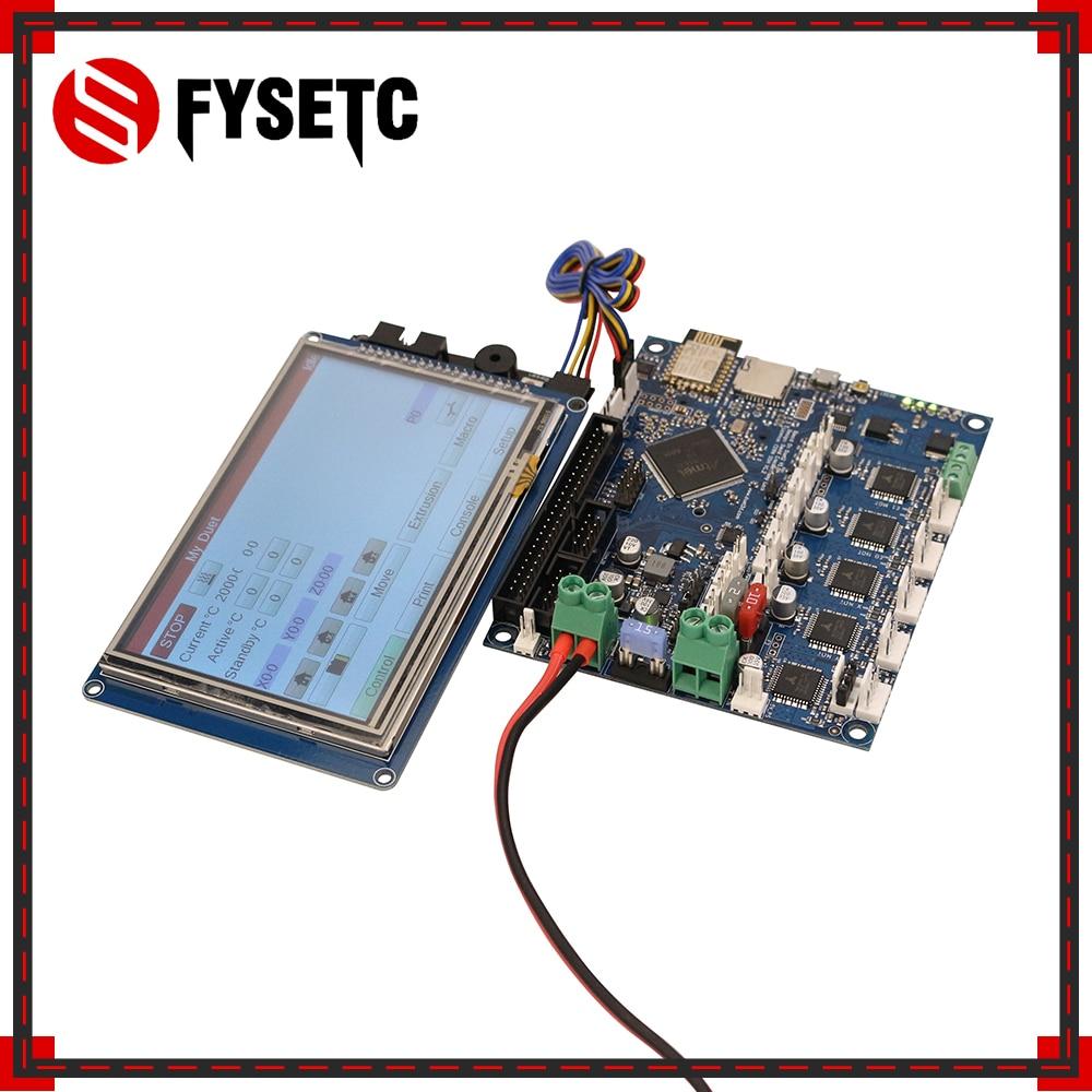 Последняя версия дуэт 2 Wi-Fi V1.04 клонировано duetwifi Расширенный 32 бит электроники с 4,3 5 7 paneldue Сенсорный экран контроллер