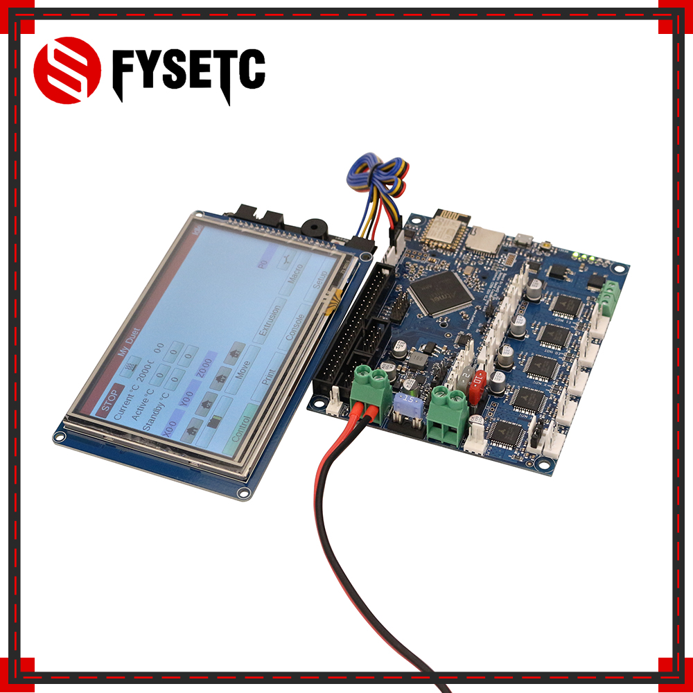 Duet 2 Wifi V1.04 Cloned DuetWifi Advanced 32 Bit Electronics  With 4.3 5 7 PanelDue Touch Screen Controller For BLV MGN Cube3D  Printer Parts