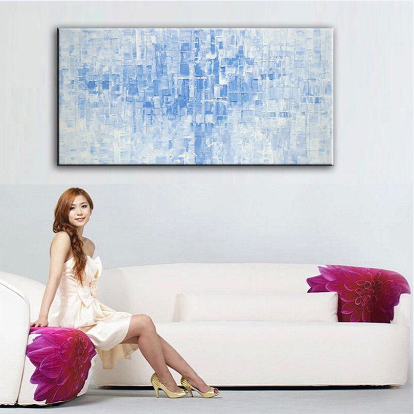 Hand painted oil painting Home decoration high quality canvas Abstract font b knife b font painting