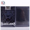 David Blaine's Black Lions Playing Cards (BLACK) Edition Deck by David Blaine Magic Props