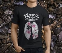 Classic Tops Tee Shirts O Neck New Florence And The Machine Men Short Sleeve Print Tee