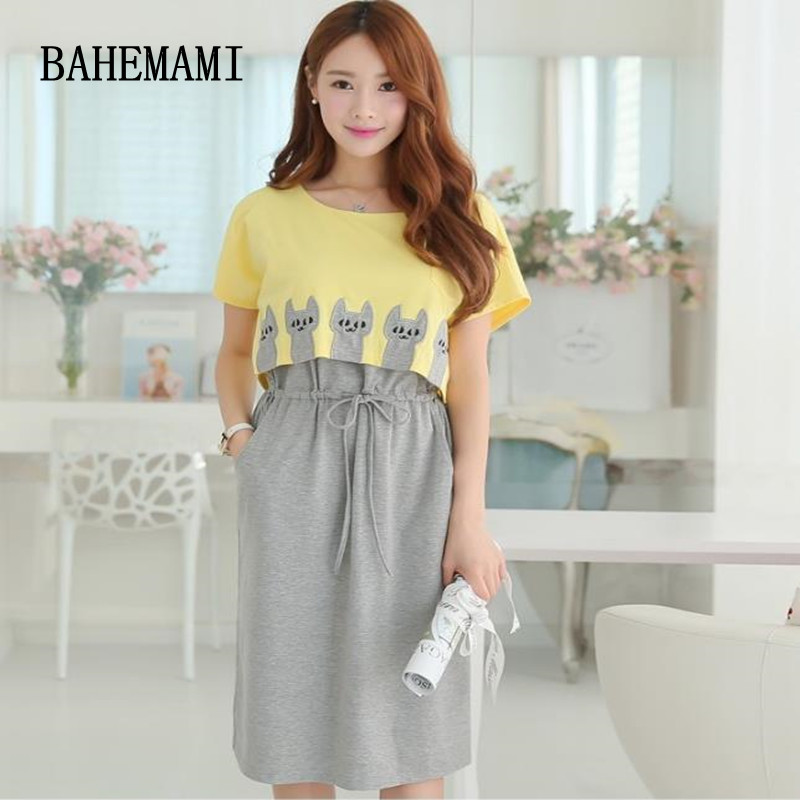 BAHEMAMI 2018 Summer Maternity Clothing Wear Breast ...