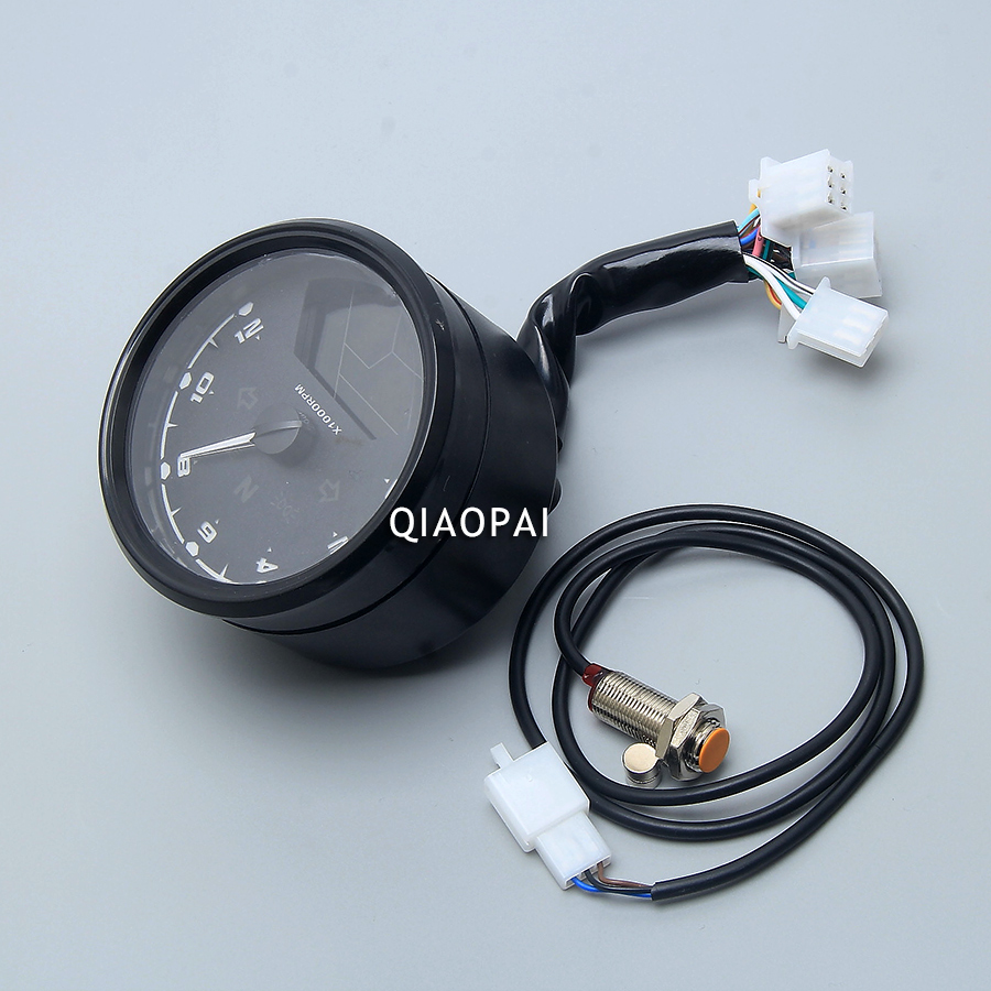 Universal Motorcycle Digital Speedometer Odometer LCD Screen ...