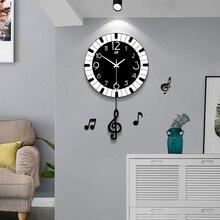 Креативные трендовые настенные часы для гостиной, Современная минималистская атмосфера, индивидуальная спальня, немой дом, модные настенные часы