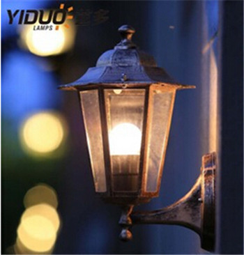 American Style Edison Vintage Iron Industrial Outdoor Wall Sconce Lamp Lighting Fixture