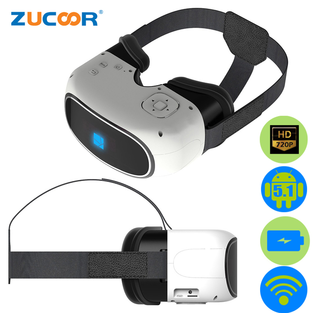 b29ddd224a19 All-in-one 3D VR Virtual Reality Game Movie Video Film Immersive Glasses Box  Google Cardboard WiFi Bluetooth + Remote Controller