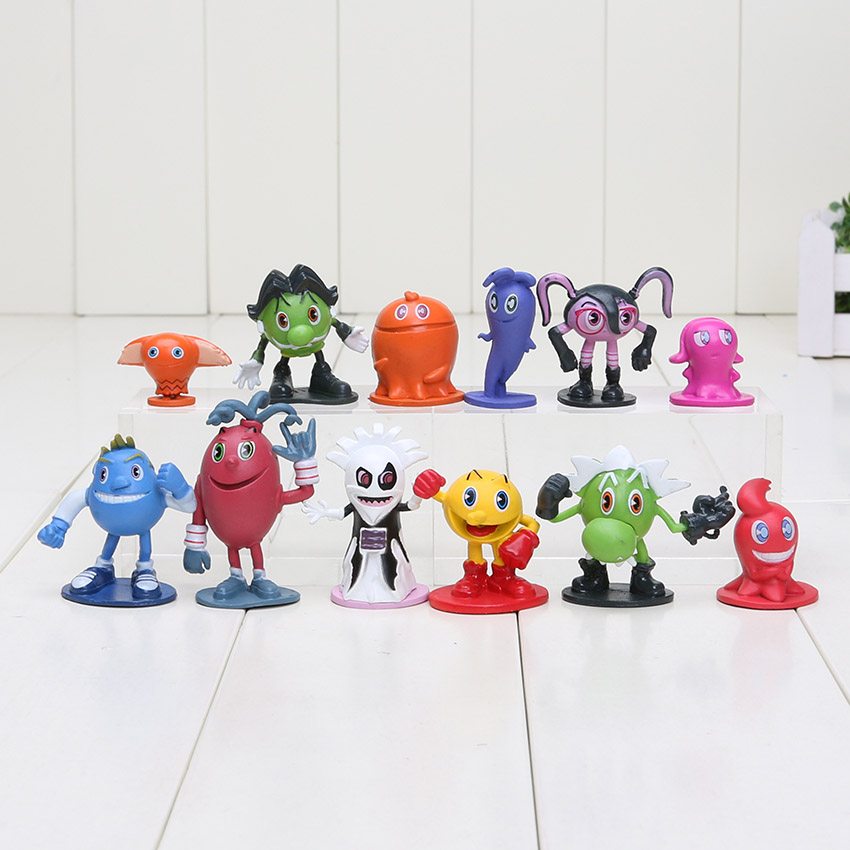 Toys & Hobbies Professional Sale New Sale 12pcs/set 3-5cm Pacman Pixels Miniatures Action Figures Pac-man Anime Figures Figurines Kids Toys To Make One Feel At Ease And Energetic