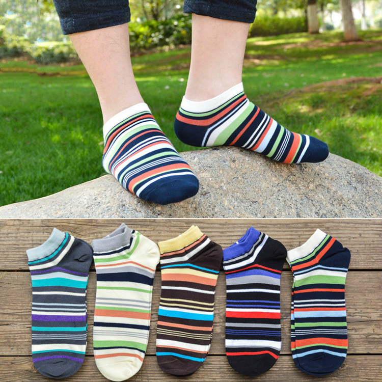 Summer Ankle Socks Men Strip Socks for Men High Quality Casual Sock