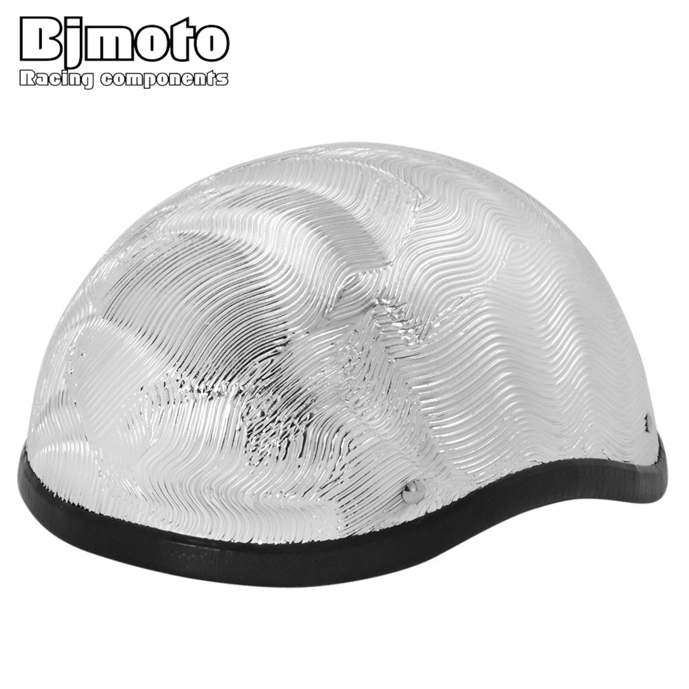 BJMOTO Adult Open Face Half Helmet Glass Fiber Harley Moto Motorcycle Helmet vintage Motorcycle Motorbike
