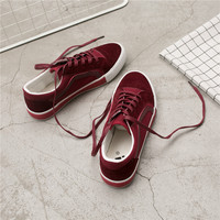 Fooraabo 2018 Spring Fashion Casual Shoes Women Vulcanize Shoes Suede Casual Shoes Ladies Flat Shoes Sneakers