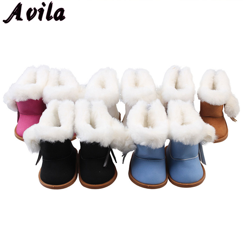 Hot Sale 1 Pair Shoes For 18 Inch Doll Toy Mini Doll Shoes For Cartoon Doll Boots Dolls Sneackers Accessories Hot Sale 7 Cm