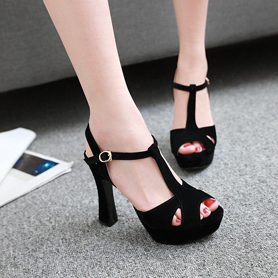 Footwears Hauts Plate Ouvert noir Esrfiyfe Talons Noce Chaussures 43 Lady À blanc Beige Nouvelle forme rose De 34 Taille Bout Femmes Sandales wfT0pw