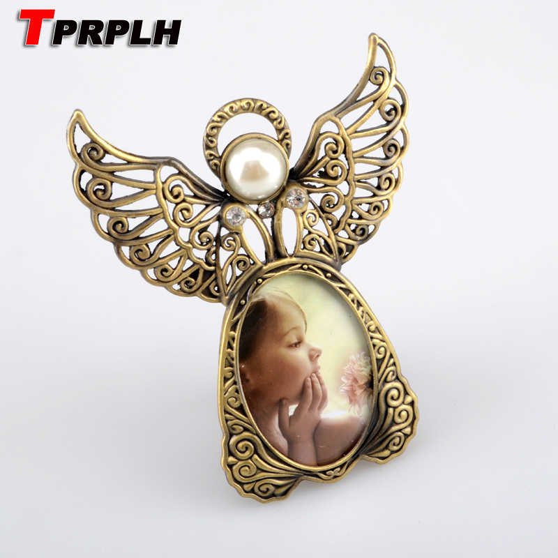 Metal Vintage Mini Picture Frames Lovely Angel Style Classic Picture Photo Frame for Home Decor and Gifts Marco De Fotos 479533