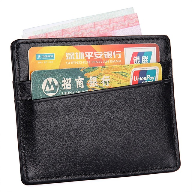 J.M.D Slim Genuine Leather Credit ID Card Holder Men's Small Money Purse Mini Business Bank Card Case R-8101