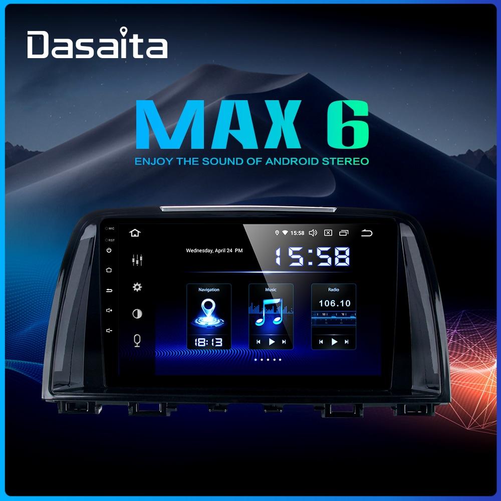 Dasaita 9 Car 1 Din Radio GPS Android 9.0 for Mazda 6 Atenza 2013 2014 Navigator Bluetooth DSP 4GB RAM Car Multimedia Player