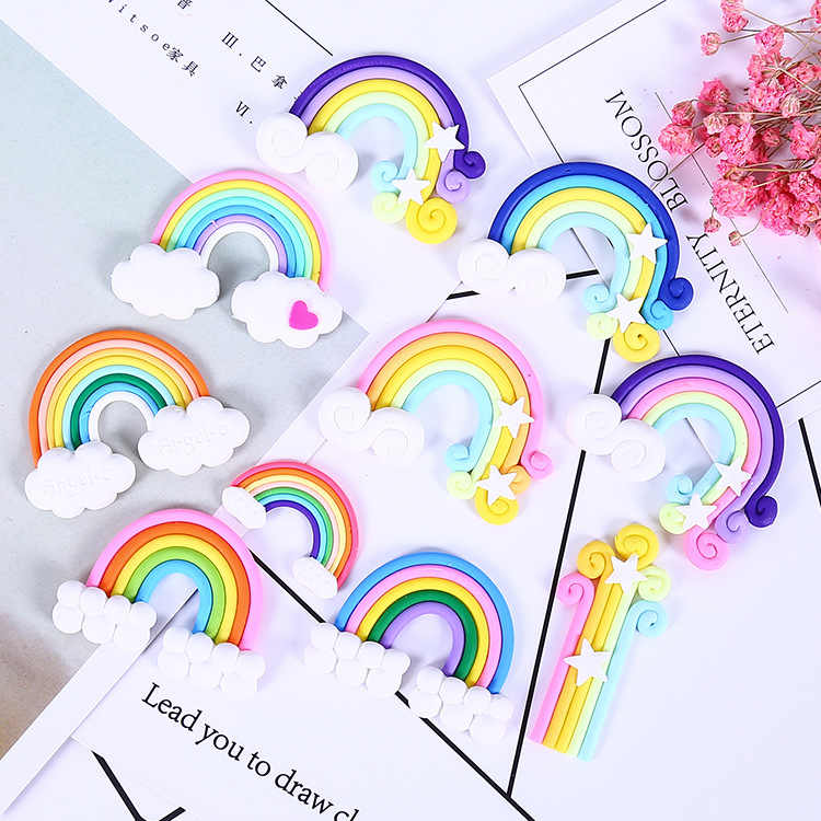DIY Rainbow Slime Supplies Accessories Phone Case Decoration for Slime Filler Resin Charms for Slime Lizun Modeling Clay Kit
