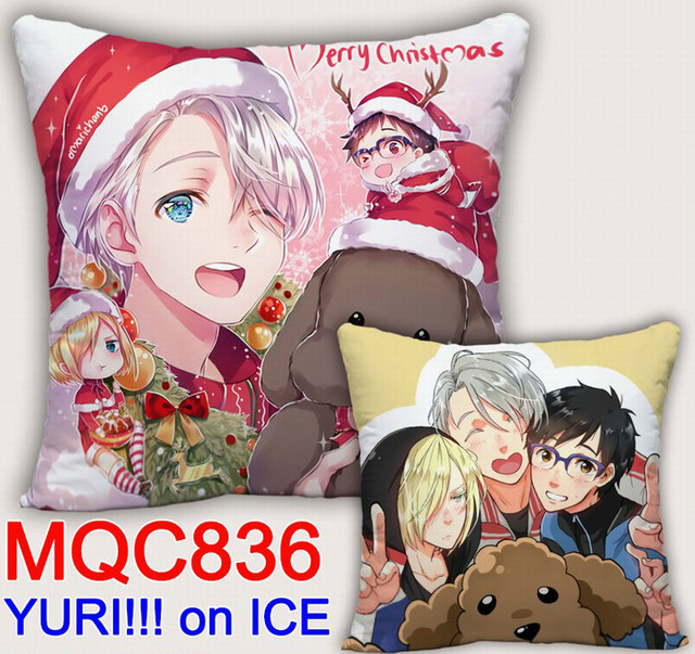 Аниме подушка двусторонняя Юрий на льду 4