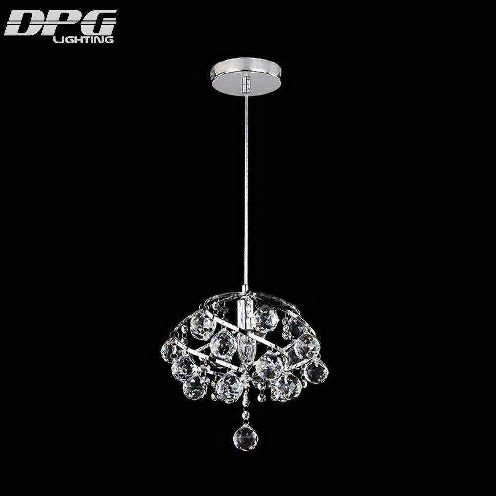 Modern small led crystal pendant hanging kitchen lights lamp home lighting fixtures for dining room restaurant